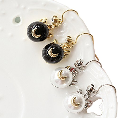 Women-Girl-Cute-Cartoon-Earrings-Cosplay-Japan-Anime-Luna-Cat-Pearl-Earring-Ear-Pendants-PTK08