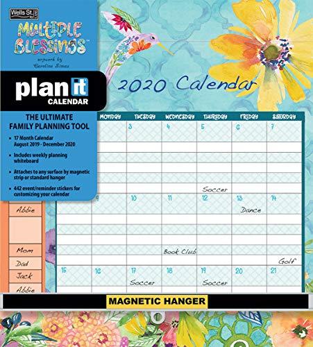 Wells Street by LANG WSBL Multiple Blessings 2020 Plan-It Plus (20997009166) Academic Wall Calendar (20997009166)