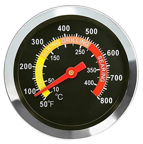 Denmay 6CM DIA Grill Thermometer zubehör Edelstahl Grillthermometer, BBQ Temperaturanzeige 01T08 für Weber, Char-Broil…
