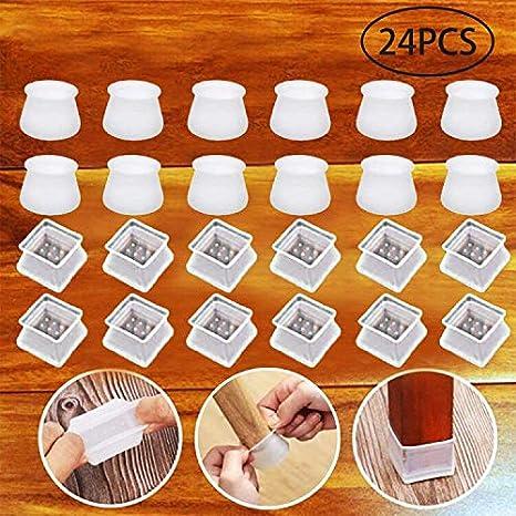 sillas 16 unidades almohadillas redondas para patas de silla previene ara/ñazos y ruido Protector de patas de muebles para sillas