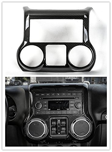 Highitem 4colors Car Interior Center Control Panel Cover Trim ABS Frame Decoration Car Styling Fit For Jeep Wrangler 2011-2017 (Carbon fiber)