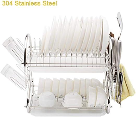 Chopsticks Holder Stainless Steel Kitchen Cutlery Holder Chopsticks Tableware Storage Rack Rust-Proof Kitchen Utensil Drying Rack L