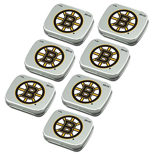 Worthy Promo NHL Boston Bruins Party Favors 7-Pack Sugar-Free Peppermint Candy Mint Tins ()