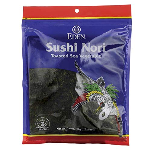 - Eden Foods Nori Sushi Toasted 7 Sheets, 0.6 oz
