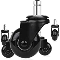 Timagebreze 5 Pcs Replacement Chair Caster Wheels 2 inch, Heavy Duty Wheels with Plug-In Stem 7/16 X 7/8 inch,Quiet…