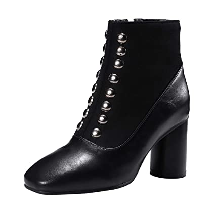 191223dce9e74a Amazon.com  Sunyastor Women Zip Ankle Boots