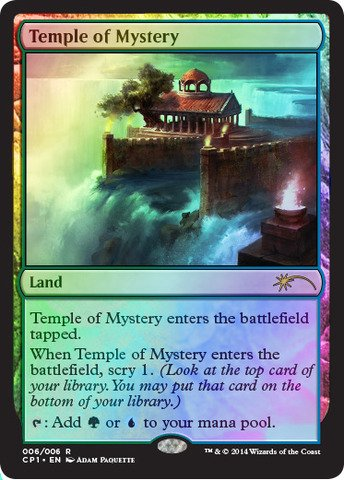 Magic: the Gathering - Temple of Mystery (006/006) - Clash Pack Promos - Foil