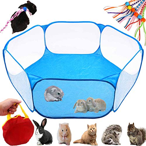 GABraden Small AnimalsTent,Reptiles Cage,Breathable Transparent Pet Playpen Pop Open Outdoor/Indoor Exercise Fence,Portable Yard Fence for Guinea Pig,Rabbits, Hamster,Chinchillas and Hedgehogs from GABraden