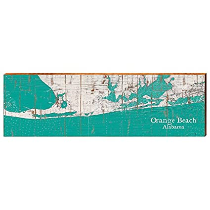 Alabama Beaches Map on