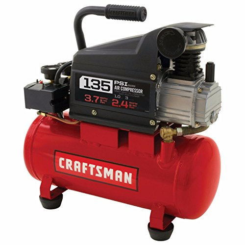 Craftsman Air Compressors 3 Gallon 1.0 HP Oil-Lubricated Air Compressor & 11 Piece Accessory Kit by Craftsman