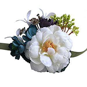 Jackcsale Bride Wrist Corsage Bridesmaid Wrist Flower Bridal Hand Flower for Wedding Prom Homecoming 120