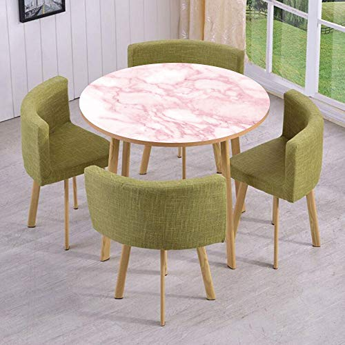 iPrint Round Table/Wall/Floor Decal Strikers/Removable/Soft Granite Texture Old Fashion Space Stone Abstract Macro Scratches Girls Image/for Living Room/Kitchens/Office ()