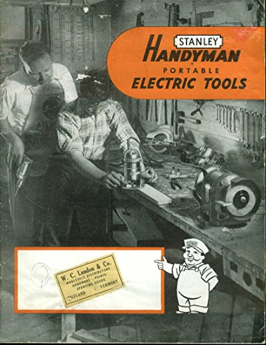 Stanley Handyman Portable Electric Tools Catalog & Price List 10/1 1952