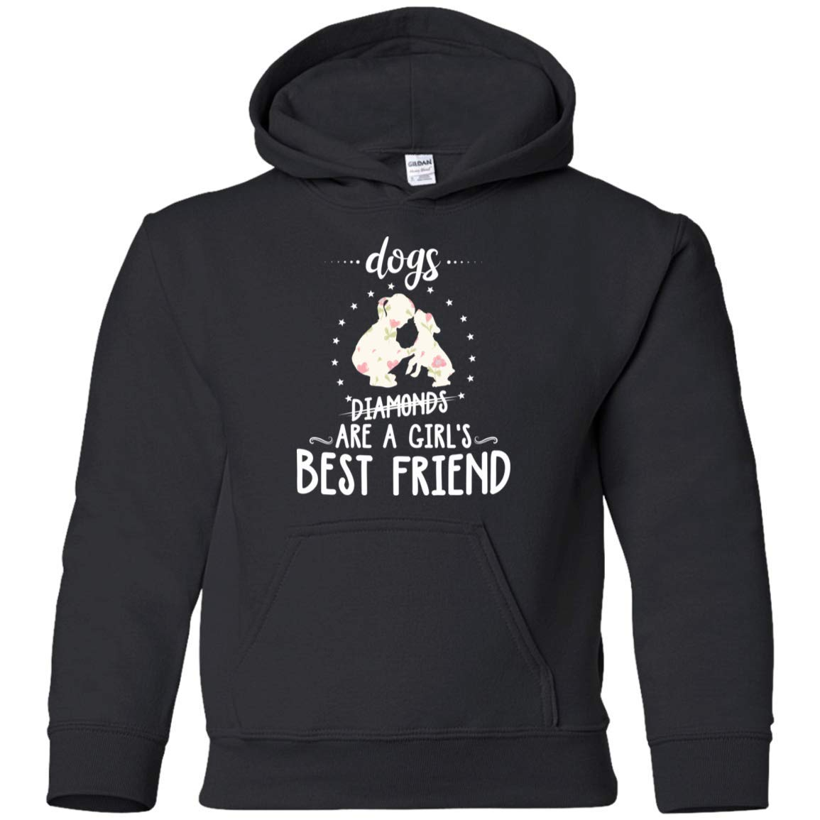 Teely Shop Little Boys Dogs are A Girls Best Friend G185B Gildan Youth Pullover Hoodie