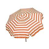 Heininger 1335 DestinationGear Italian Orange and White 6′ Acrylic Striped Patio Pole Umbrella Review
