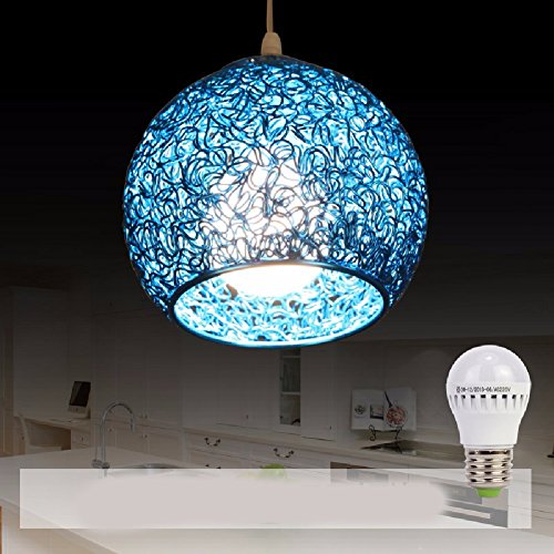 HQLCX-Chandeliers Originality Personality Modern Simplicity Bedroom Terrace bar led Aluminium Wire Fishing line Pendant lamp,Blue For Sale