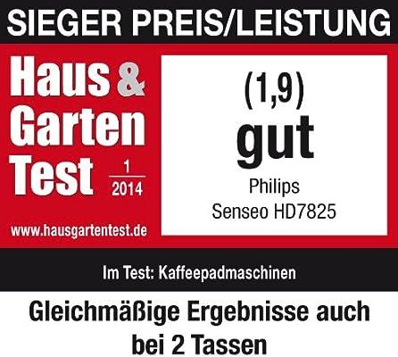 Philips HD7812/50 Senseo - Cafetera, 1450W, color plateado ...