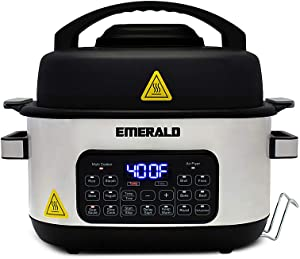 Emerald - 14 in 1 Multi Cooker & Air Fryer Duo - Stainless Steel
