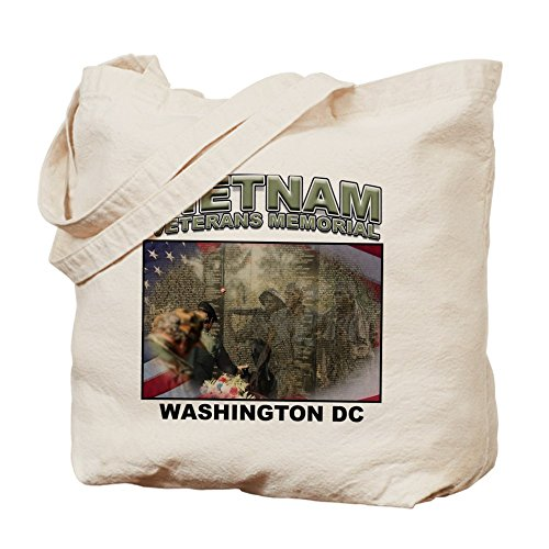 CafePress–Gamuza de Vietnam Memorial veteranos–lona bolso, bolsa de la compra