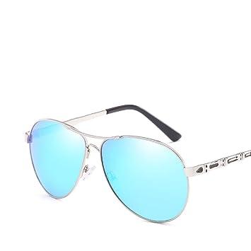Z & YQ Retro Sonnenbrille Metall Rahmen Fashion UV-Schutz fahren Reise Street Shot Herren Brille, braun