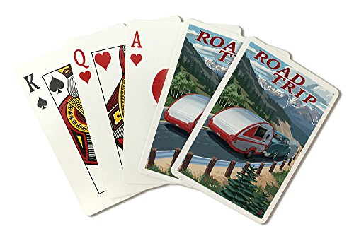 Road Trip - National Park WPA Sentiment (Playing Card Deck - 52 Card Poker Size with Jokers)
