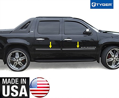 Made in USA! Works with 2007-2009 Chevy Avalanche/Suburban Body Side Molding Top 1