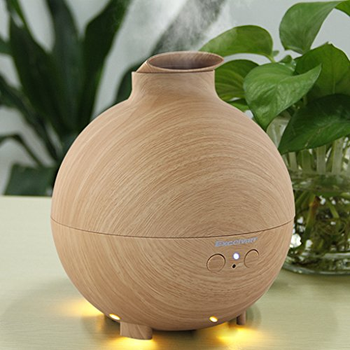 Excelvan Essential Oil Aroma Diffuser Ultrasonic Humidifier Air Mist Aromatherapy Purifier Woodgrain