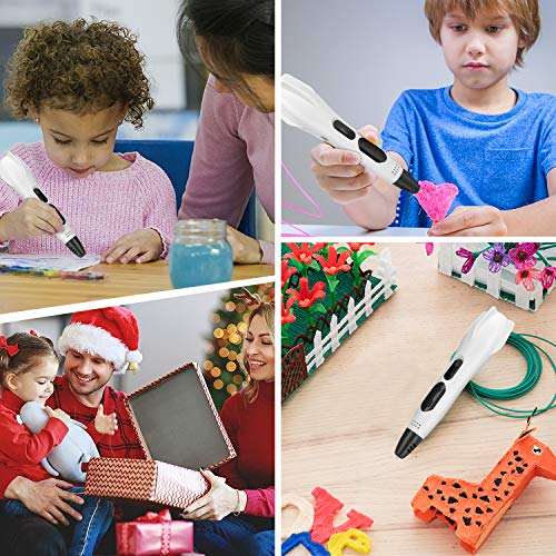 3D Printing Pen AveyLum Intelligent 3D Pen LCD Screen with 12 Colors 10ft PLA Filament USB Charging Creative Drawing Pen for Kids Children Gift Present, Standard UK Plug
