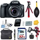 Canon PowerShot SX60 HS Digital Camera - Wi-Fi Enabled Bundle with Commander 32GB High Speed Memory Card + High Speed Memory Card Reader + Deluxe Camera Case + Spider Tripod + Commander Starter Kit