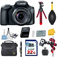 Canon PowerShot SX60 HS Digital Camera - Wi-Fi Enabled Bundle with Commander 32GB High Speed Memory Card + High Speed Memory Card Reader + Deluxe Camera Case + Spider Tripod + Commander Starter Kit Noticeable Review Image