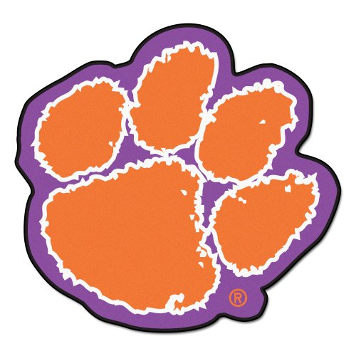 FANMATS NCAA Clemson University Tigers Nylon Face Mascot Rug