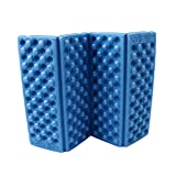 HS 1PC Foldable Folding EVA Foam Waterproof Chair Cushion Seat Pads Mat for Camping Hiking Sports Outdoor Activities (Blue)