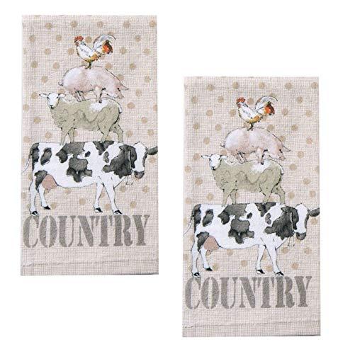 Kay Dee Designs R3250 Farm Life Animals Terry Towel (2) by Kay Dee