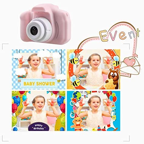 QinKingstore 子供用デジタルミニカメラ2インチHDスクリーン有料720 P HD写真子供漫画かわいいカメラ