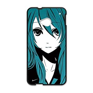 Green hair lovely girl Cell Phone Case for HTC One M7
