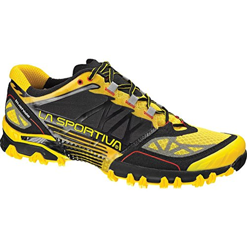 La Sportiva Bushido Trail Running Shoes UK 10.5 Black Yellow (Ez Store Die Sheets)