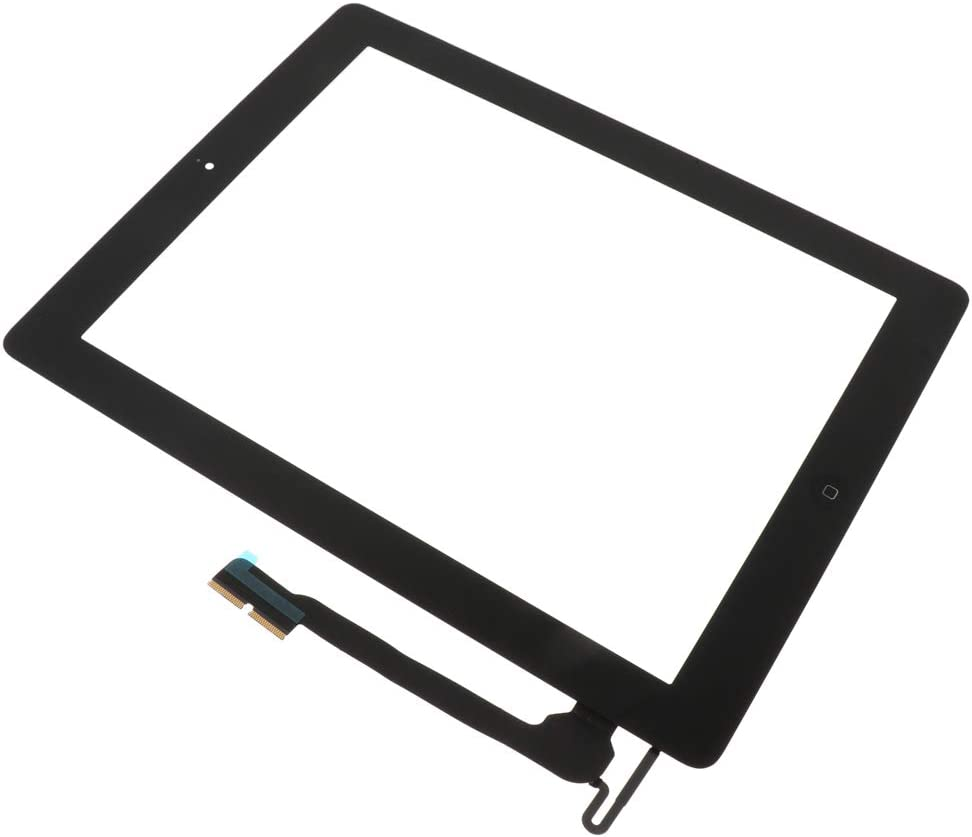 Touch Screen Frame Bezel/&Glass Screen Digitizer Complete Assembly for iPad 4