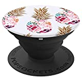 Floral Pineapple Pattern Phone Popper - PopSockets Grip and Stand for Phones and Tablets