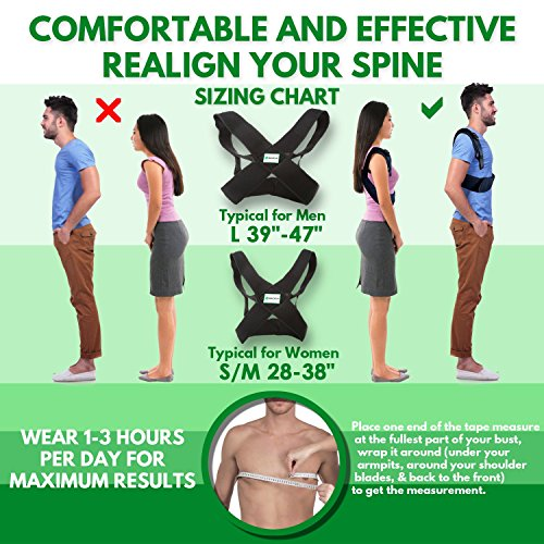 Back-up | Comfortable & Effective Posture Corrector for Women & Men | Clavicle & Shoulder Brace | Back Support | Lower & Upper Back Pain Relief | Cervical & Lumbar Support - Fully Adjustable by Raitera Health & Wellness (Image #4)