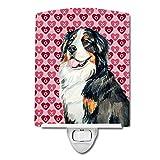 Caroline's Treasures Bernese Mountain Dog Love Valentine's Night Light, 6'' x 4'', Multicolor