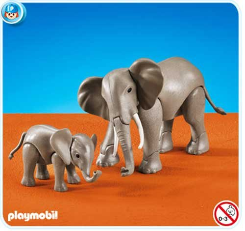 (PLAYMOBIL® Add-On Series - 1 Large and 1 Small Elephant)