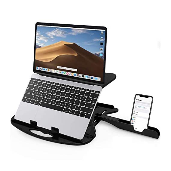 STRIFF Adjustable Laptop Stand Patented Riser Ventilated Portable Foldable Compatible with MacBook Notebook Tablet Tray