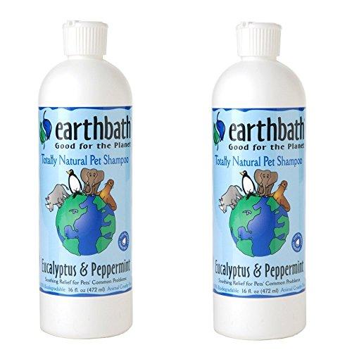 Earthbath Totally Natural Eucalyptus & Peppermint Dog & Cat Shampoo 16 ounce (2 Pack)