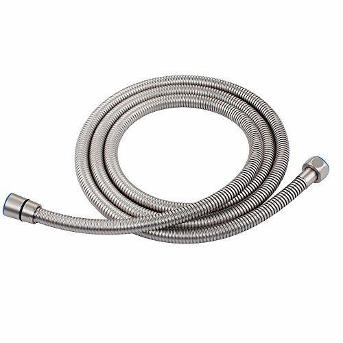 Shower Extension Hose, Angle Simple 79-inch Stainless Steel Flexible Bathroom Shower Sprayer Hose Replacement for RV Travel Trailer Garden Plumbing Pipe No Tangle Brushed Nickel by Angle Simple