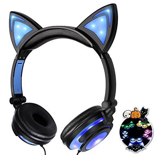 Bonwayer Kids Headphones with Cat Ear Adjustable