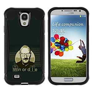 iKiki Tech / Estuche rígido - Win Or Die Quote Man Life Motivational Success - Samsung Galaxy S4 I9500
