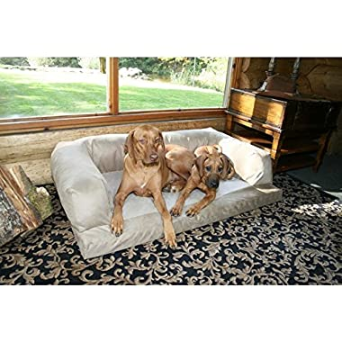 XXL Dog Bed Orthopedic Foam Sofa Couch Extra Large Size Great Dane - Creme