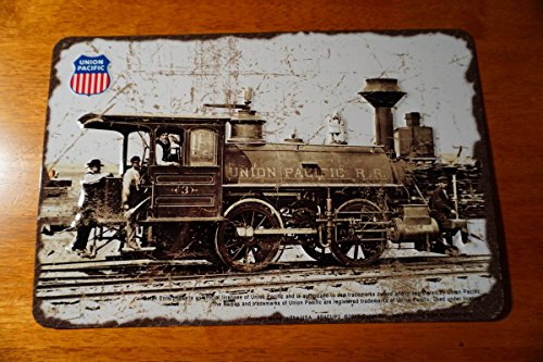 (Union Pacific 4002 Steam Engine Train Rustic Railroad Collector Sign Decor)