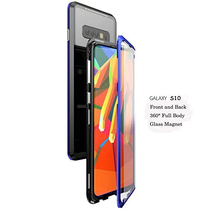 low priced 1fbdb e44f3 Amazon.com: Galaxy S10 Case,Magnetic Adsorption Case Front and Back ...