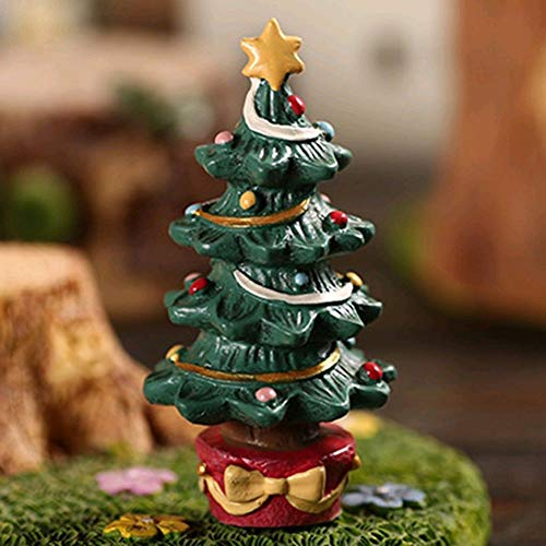 ETbotu Aquarium Decor Fish Tank Aquarium Ornament Resin Crafts Cartoon Christmas Series Landscaping Decor -Christmas Tree -